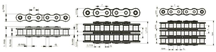 Цепи приводные роликовые и втулочные ГОСТ 13568-97