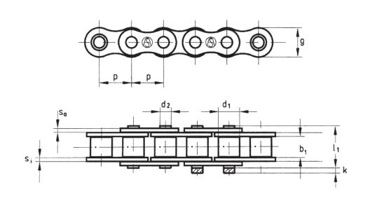 Американский стандарт DIN 8188 однорядные