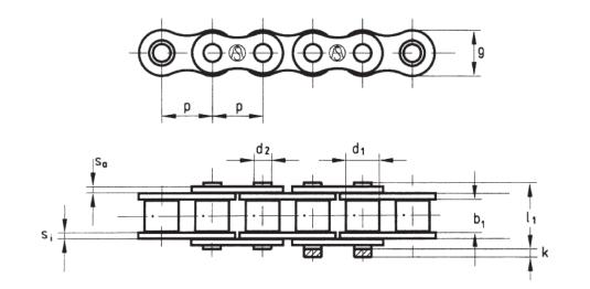 Европейский стандарт DIN 8187 однорядные