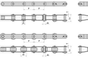 Конвейерные (двухшаговые) цепи из нержавеющей стали