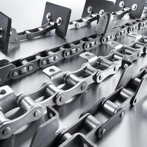 Роликовые цепи со специальными пластинами — Тип К